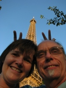 Lisa and PJ at the Eiffel Tower